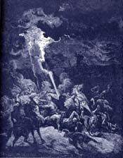 Elijah Destroying the Messengers of Ahaziah Bible Story Picture