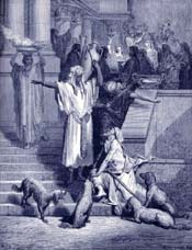 Lazarus and the Rich Man Bible Story Picture